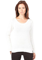 VILA Womens Lash Knit Sweat white