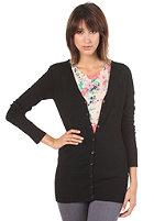 VILA Womens Long V-Neck Cardigan black