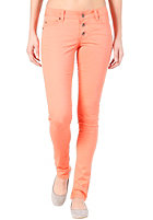 VILA Womens Lowe Superlow Slim Color Pant warm coral