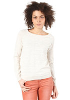 VILA Womens Melange Knit Sweat off white