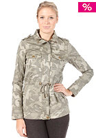 VILA Womens Rider Printed Jacket ivy green
