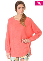 VILA Womens Ruff Knit Sweat georgia peach