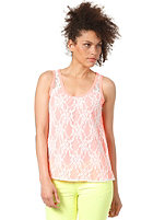 VILA Womens Scoops Lace Tank Top neo coral