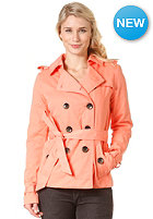 VILA Womens Shina Short Trenchcoat warm coral