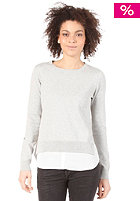 VILA Womens Shirta Knit Sweat light grey  melange