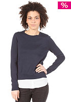 VILA Womens Shirta Knit Sweat marine