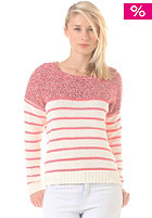VILA Womens Spot Knit Sweat off white/super neon