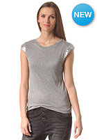 VILA Womens Viloussi Sequence Top light grey melange