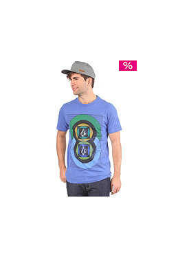 VOLCOM Around T-Shirt tacoma brown electric blue