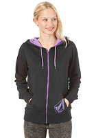 VOLCOM Back In The Line Hooded Zip Sweat black