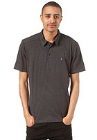 VOLCOM Blackout Polo S/S Shirt tinted black heather