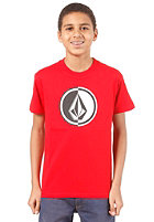 VOLCOM Circle Stone S/S T-Shirt drip red