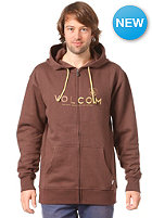 VOLCOM Constant Change Hooded Zip Sweat dark brown