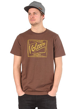 VOLCOM Coors Script S/S T-Shirt tacoma brown