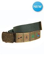 VOLCOM Demerit Web Belt cedar green