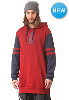 VOLCOM Football Hooded Fleece Sweat red
