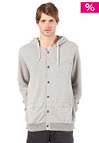 VOLCOM Intricate Button Hooded Zip Sweat pewter