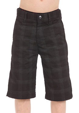 VOLCOM KIDS/ Boys Frickin Chino Plaid Shorts new black