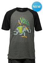 VOLCOM Kids Checked Out PJ Set S/S T-Shirt dark grey