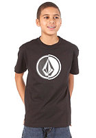 VOLCOM Kids Circle Stone S/S T-Shirt black