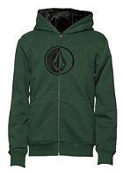 VOLCOM Kids Circlestone Lined Hooded Zip Sweat jungle green