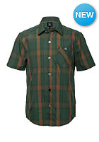 VOLCOM Kids Everett Plaid S/S T-Shirt cedar green