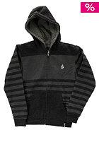 Kids Getta Sherpa Hooded Zip Sweat heather black
