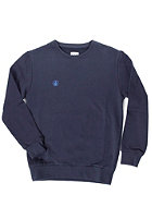 VOLCOM Kids Icon Crew Fleece Sweat blue black