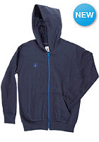 VOLCOM Kids Icon Hooded Zip Fleece blue black