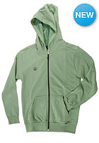 VOLCOM Kids Icon Hooded Zip Fleece vineyard green