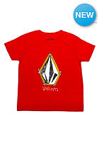 VOLCOM Kids Pencil Stone S/S T-Shirt why rock red