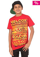 VOLCOM Kids Rep Cross T-Shirt drip red