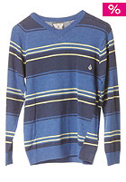VOLCOM Kids Understated Stripe Sweatshirt vintage blue