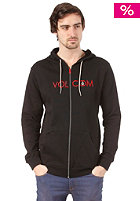 VOLCOM Laquered Hooded Zip Sweat Fleece black