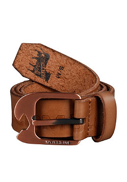 VOLCOM Lever Leather Belt brown