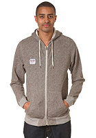 VOLCOM Loiter Hooded Zip Fleece heather black