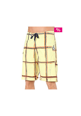 VOLCOM Maguro Plaid 22 Boardshort yellow