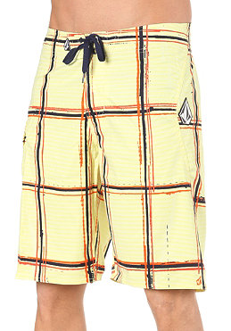 VOLCOM Maguro Plaid 22 Boardshorts yellow
