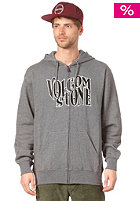 VOLCOM Mister Blue Sky Basic Zip Hooded Sweat dark grey heather