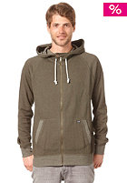 VOLCOM Oldgrant Ultraslim Zip Hooded Sweat dark olive