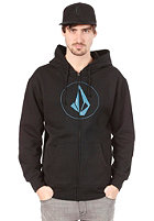VOLCOM Original Stone Hooded Zip Sweat black