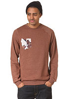 VOLCOM Printed Pocket Crew Sweatshirt heather chestnut brown