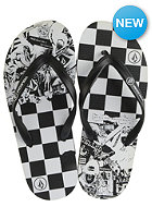 Rocker Sandal black white