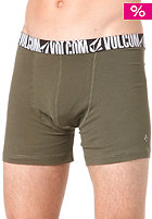 VOLCOM Solid Knit Boxer Briefs dark olive