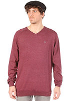 VOLCOM Standard V Neck Sweat cabernet