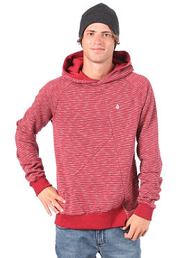 VOLCOM Stripe Thing Ultraslim Hooded Sweat maroon