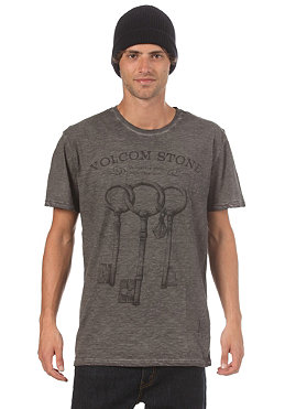VOLCOM Three Keys Overdrye  S/S T-Shirt black