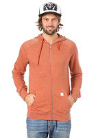 VOLCOM Timesoft Ultra Slim Hooded Zip Sweat copper