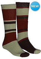 VOLCOM Tube Stripe Socks burnt sienna