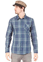 VOLCOM Why Factor Plaid L/S Shirt navy paint
